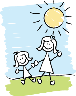 Older and Younger | Clipart