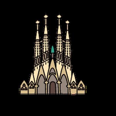Landmarks - Sagrada Família | Clipart