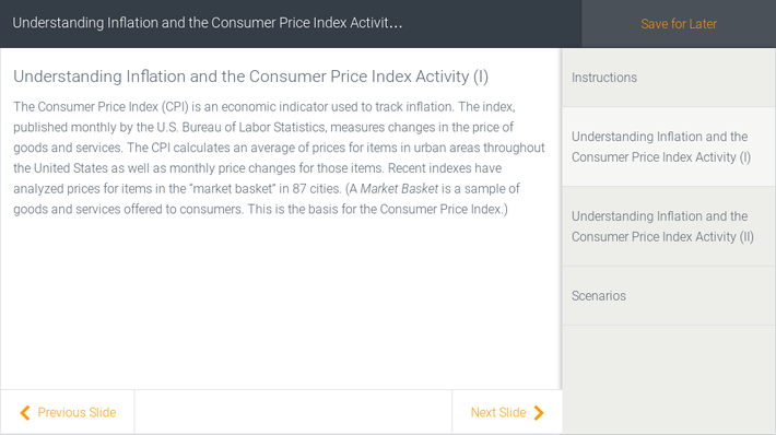 Understanding Inflation and the Consumer Price Index Activity | Assignment
