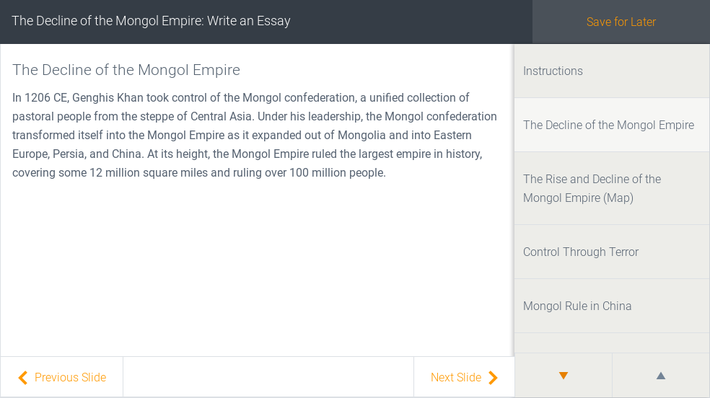 The Decline of the Mongol Empire: Write an Essay | Assignment