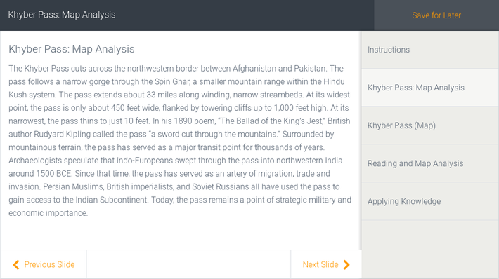 Khyber Pass: Map Analysis | Assignment