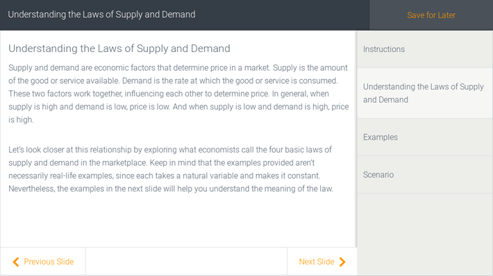 Understanding the Laws of Supply and Demand | Assignment