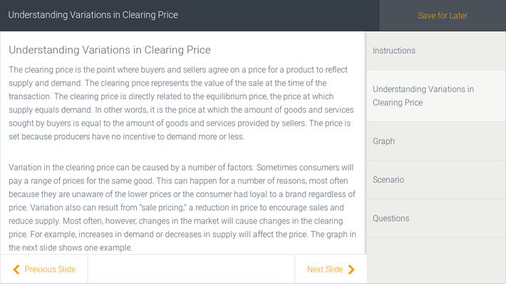 Understanding Variations in Clearing Price | Assignment