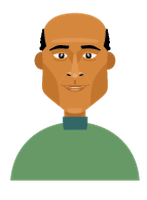 Men's Hair - Balding 2 | Clipart