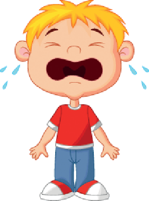 Young Boy Cartoon Crying | Clipart