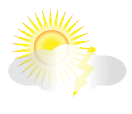 Weather - Sun and Thunder Clouds | Clipart