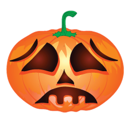 Halloween Background With Pumpkins | Clipart