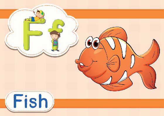 Vocabulary Cards - F for Fish   Clipart