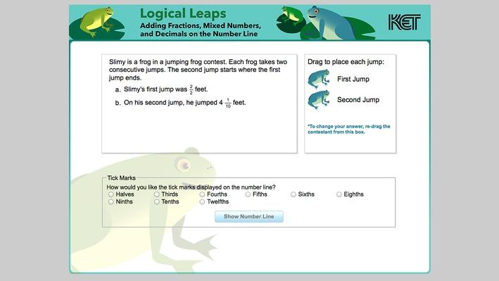 Logical Leaps | Adding Fractions, Mixed Numbers, and Decimals on the Number Line