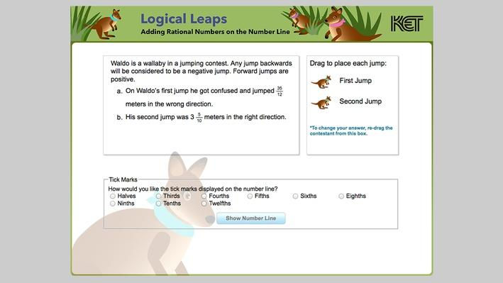 Logical Leaps | Adding Rational Numbers on the Number Line