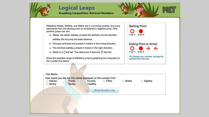 Logical Leaps | Graphing Inequalities: Rational Numbers