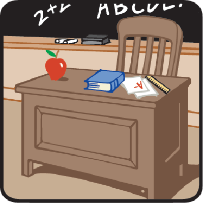 Teacher's Desk/A Shortage of Good Teachers/Head of the Class | Clipart