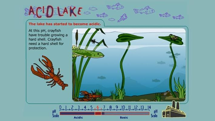 Worksheets Ph And Acid Rain Worksheet acid lake science interactive pbs learningmedia launch