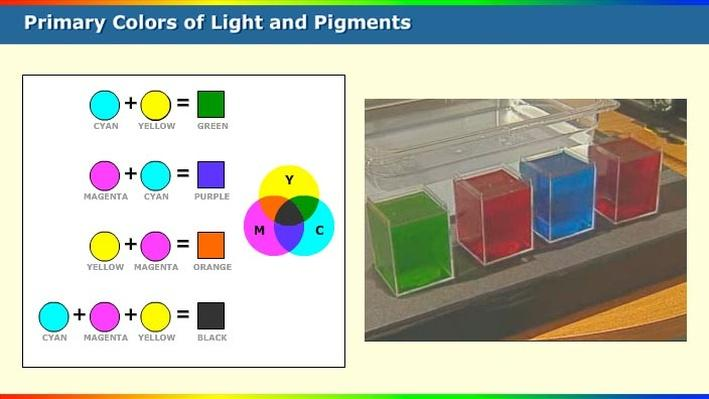 Primary Colors Of Light And Pigments