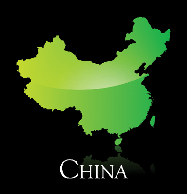 China Green Shiny Map | Clipart