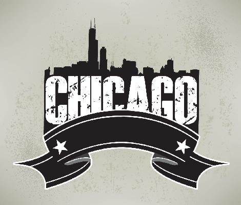 Chicago Skyline Banner Graphic | Clipart