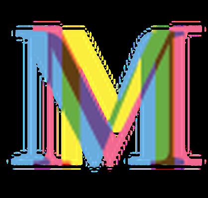 Four-Color Alphabet Letters - M | Clipart