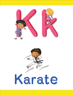 Alphabet Worksheets - K for Karate | Clipart