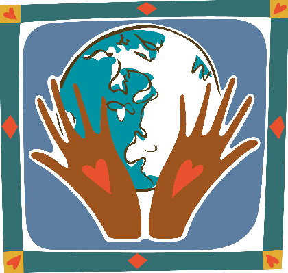 Two Hands Holding the World | Clipart