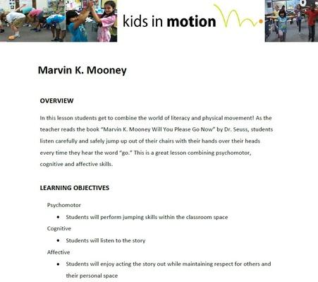 Marvin K. Mooney Lesson Plan
