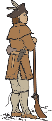 Coloring Book Page, Soldier Scout | Clipart