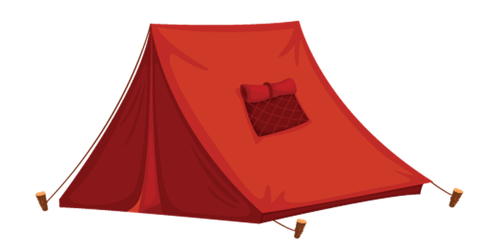Various Objects of Camping - Tent | Clipart