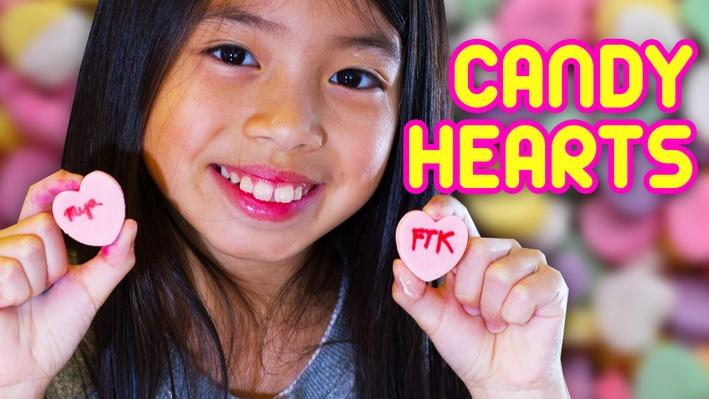 DIY Candy Hearts | Full-Time Kid