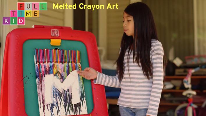 DIY Melted Crayon Art | Full-Time Kid