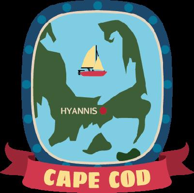 Cape Cod Luggage Label | Clipart