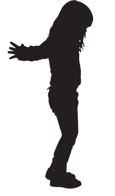 Silhouette of Girl | Clipart
