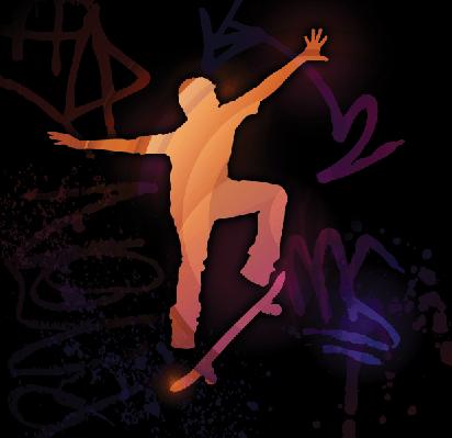Skateboarding | Clipart