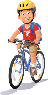 Bikes and Bicycles - Boy Riding Bike | Clipart