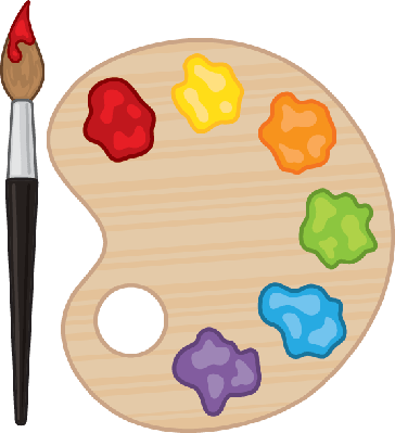 Paintbrush and Palette | Clipart