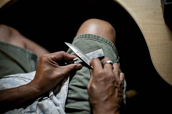 Basket Weaver Sharpens a Knife   Global Oneness Project