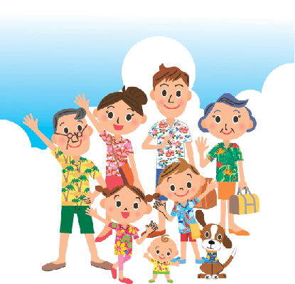 Trip Summer With the Family Third Generation | Clipart