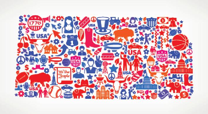Kansas on USA Icon Pattern | Clipart