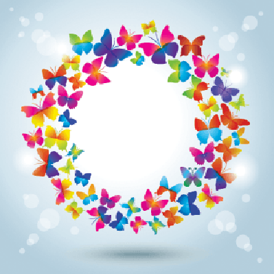 Frame With Butterflies: It's Summertime! | Clipart