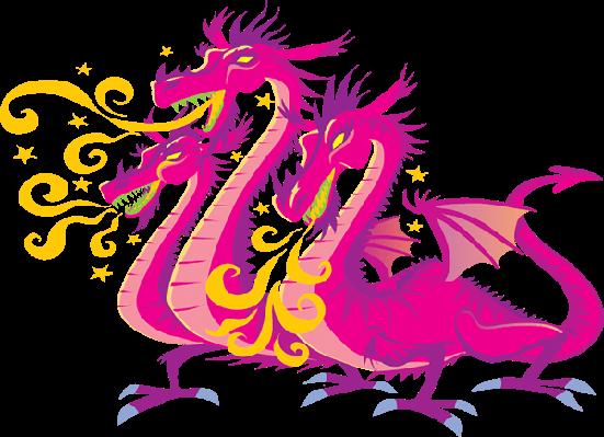 Three-Headed Dragon | Clipart