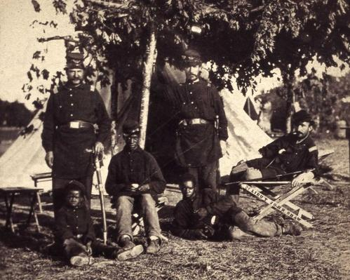Contrabands at army camp