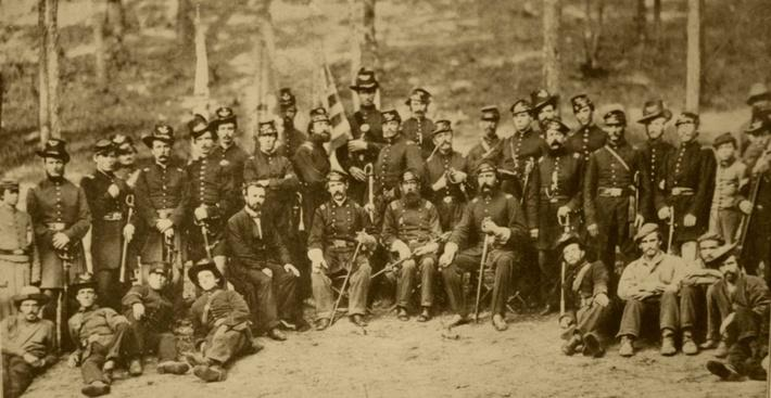 Officers of the U.S. Ninth Massachusetts infantry, 1861