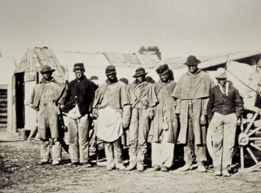 Contraband (runaway slaves) who escaped to Union lines
