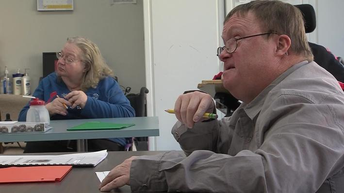 Pat Hurley in his class