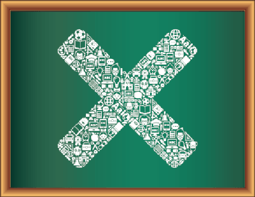 Education & Back to School Blackboard Collection: X Symbol | Clipart