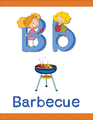 Alphabet Worksheets - B for Barbecue | Clipart