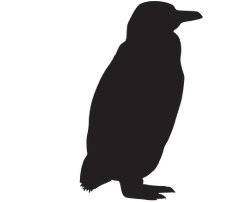 Animal Silhouettes - Penguin | Clipart