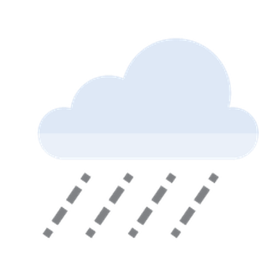 Autumn | Flat Color Icons - Rain Cloud | Clipart