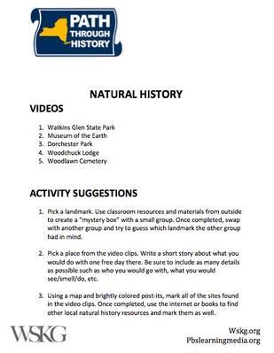 Natural History Activities