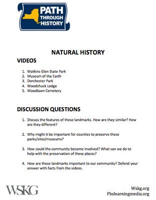 Natural History Discussion Questions