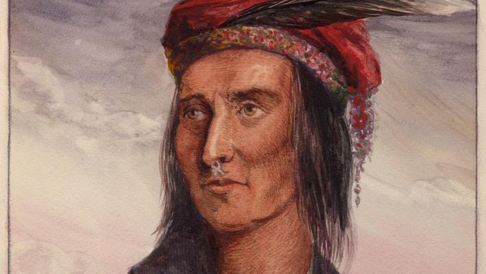 Shawnee Chief Tecumseh Color Image