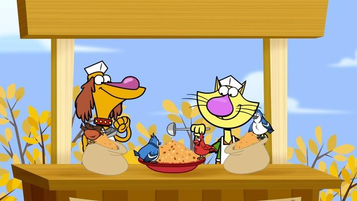 Nature Cat | Clip | Let's Make a Bird Feeder